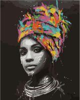 """Картина по номерам """"Девушка на черном фоне"""" (400х500 мм)"""