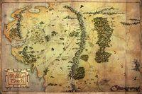 """Постер """"The Hobbit. Journey Map"""""""