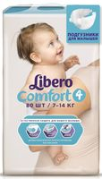 """Подгузники для детей Libero Comfort """"Maxi 4"""" (7-14 кг, 80 шт)"""