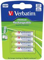 Аккумуляторы AAA Verbatim 1000 мАч (4 шт)
