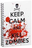 """Блокнот в клетку """"Kill Zombies"""" A5 (134)"""