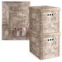 "Набор коробок складных ""Vintage"" (2 шт.; 28х38х31,5 см)"