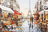 """Картина по номерам """"Париж для двоих"""" (400х500 мм)"""