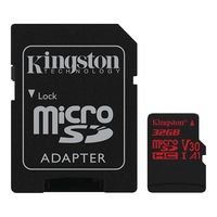 Карта памяти Kingston Canvas React SDCR/32GB microSDHC 32GB (с адаптером)