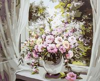"Картина по номерам ""Букет на окне"" (400х500 мм; арт. PC4050123)"