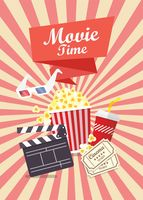 "Открытка ""Movie time"""
