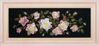 "Вышивка лентами ""Розы"" (700х250 мм)"