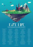 """Скретч-постер """"Список 100 вещей, которые нужно сделать в жизни"""" (840х590 мм)"""