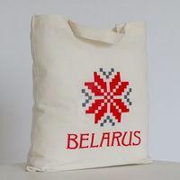 """Сумка для покупок Vitaem """"Belarus"""" (бежевая, короткие ручки)"""