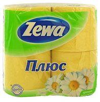 """Туалетная бумага """"Zewa Плюс. Ромашка"""" (4 рулона)"""