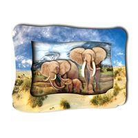 """3D аппликация """"Слоны на прогулке"""""""