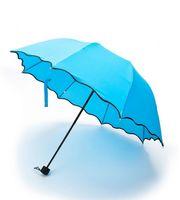 Зонт с проявляющимся рисунком (голубой)