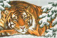 """Канва с нанесенным рисунком """"Амурский тигр"""""""