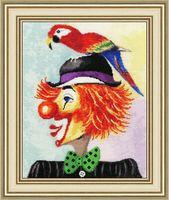 """Вышивка крестом """"Клоун с попугаем"""""""