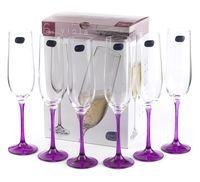 """Бокал для шампанского стеклянный """"Viola"""" (6 шт.; 190 мл; арт. 40729/D4834/190)"""