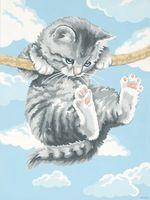 "Картина по номерам ""Котенок на ветке"" (300х400 мм)"