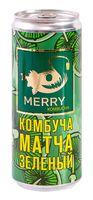 """Комбуча """"Merry. Матча"""" (330 мл)"""