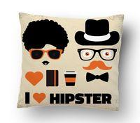 "Подушка маленькая ""Love Hipster"" (art.27)"