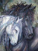 "Алмазная вышивка-мозаика ""Пара лошадей"""