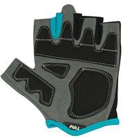 Перчатки для фитнеса SU-117 (M; чёрные/серые/голубые)