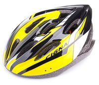 """Шлем велосипедный """"WT-040"""" (чёрный/жёлтый/белый)"""