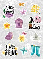 """Набор наклеек """"Весна"""""""