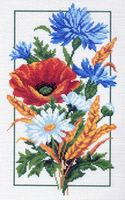 """Канва с нанесенным рисунком """"Полевые цветы"""" (арт. 0743)"""