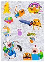 """Набор глянцевых наклеек """"Adventure Time"""" №1"""