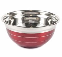 Салатник металлический (1,05 л; красный)