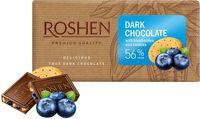 """Шоколад темный """"Roshen"""" (90 г; с черникой и печеньем)"""