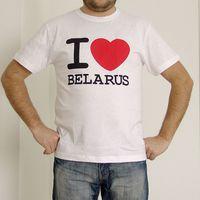 "Футболка мужская Vitaem ""I LOVE BELARUS"" (белая) (XL)"