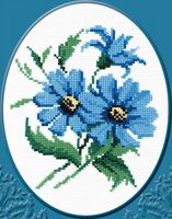 """Вышивка крестом """"Синие цветочки"""" (арт. С174)"""