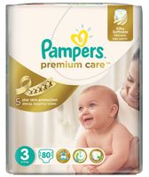 "Подгузники ""Pampers Premium Care Midi Jambo"" (5-9 кг, 80 шт)"