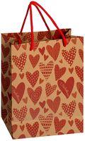 "Пакет бумажный подарочный ""Сердечки"" (18х23х8 см; арт. 10772283)"
