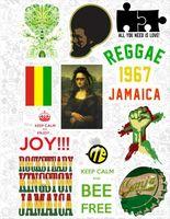"Набор виниловых наклеек №553 ""Reggae"""