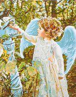 """Картина по номерам """"Обед из руки ангела"""" (400х500 мм; арт. PC4050128)"""