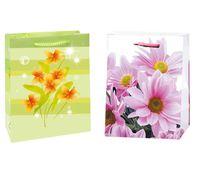 """Пакет пластиковый подарочный """"Цветы"""" (в ассортименте; 21х17х7,5 см)"""