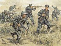 """Набор миниатюр """"Немецкие пехотинцы"""" (масштаб: 1/72)"""