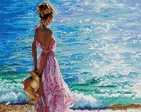 """Алмазная вышивка-мозаика """"Блеск морской волны"""""""