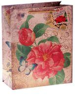 """Пакет бумажный подарочный """"Цветок"""" (14х18,5х10 см; арт. 10645944)"""