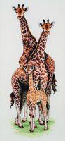 "Вышивка крестом ""Семья жирафов"" (470х140 мм)"