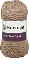 """Пряжа """"KARTOPU. Cozy Wool Sport №K885"""" (100 г; 280 м; темно-бежевый)"""