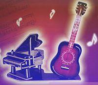"""Сборная деревянная модель """"Гитара и пианино 2"""""""