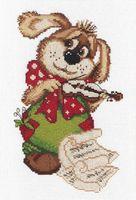 """Вышивка крестом """"Собачка со скрипкой"""""""