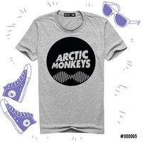 "Футболка серая унисекс ""Arctic Monkeys"" M (арт. 065)"