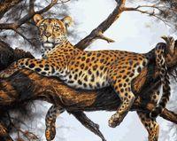 "Картина по номерам ""Леопард на отдыхе"" (400х500 мм)"