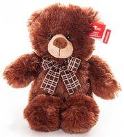 """Мягкая игрушка """"Медведь коричневый с бантом"""" (30 см)"""