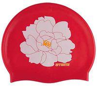 Шапочка для плавания (красная; цветок; арт. PSC409)