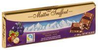 """Шоколад молочый """"Maitre Truffout. С дробленым фундуком и изюмом"""" (300 г)"""