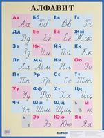 Алфавит. Печатные и рукописные буквы. Плакат (большой формат)